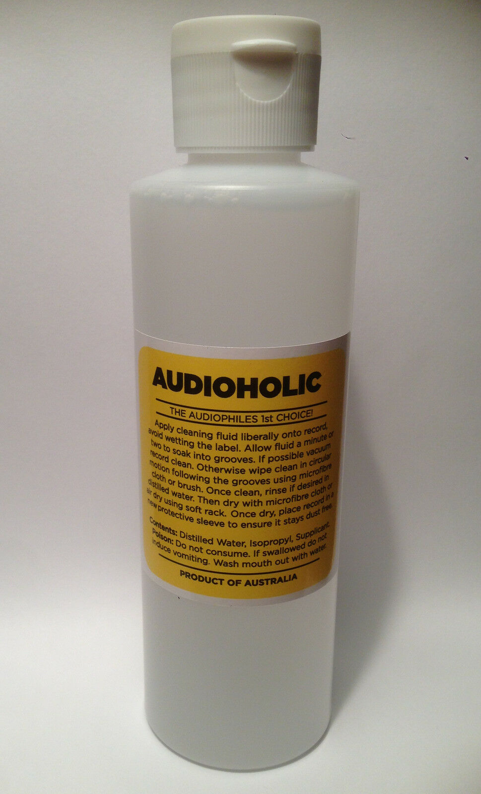 AUDIOHOLIC RECORD CLEANING FLUID NEW 250 ML.