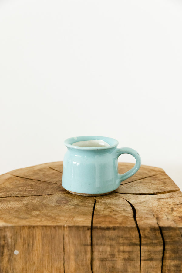 Light Turquoise Hand Made Ceramic Mug