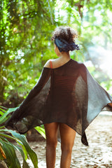 Knitted Silk Poncho