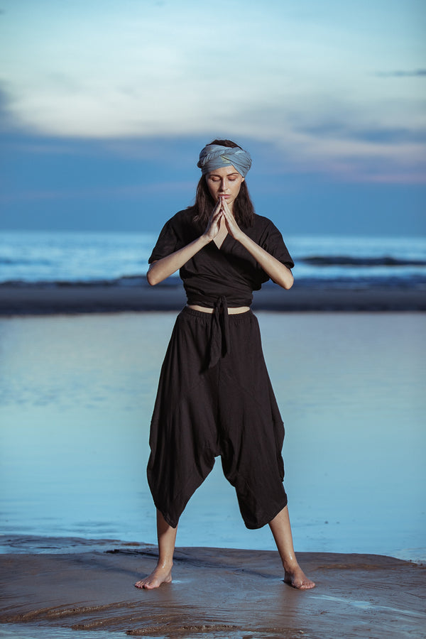 Organic Cotton Jersey Harem Pants