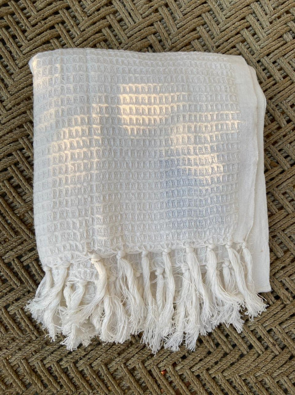 Hand Woven Cotton Wafer Towel