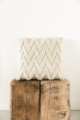 Cream Bobble Patterned Cushion