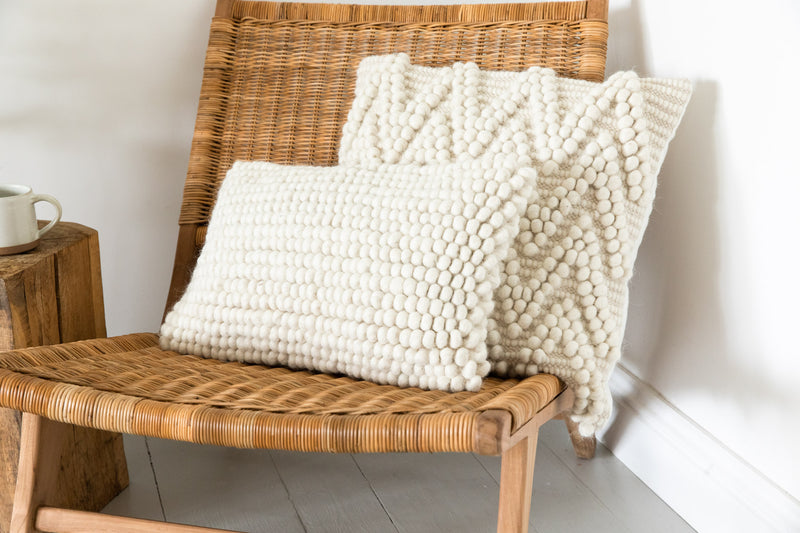 Cream Bobble Cushion