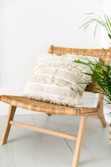 Large Cream Tassel Cushion Cover