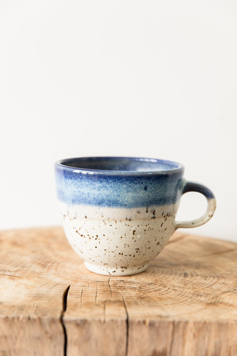 Hand Made Ceramic Blue & White Mug