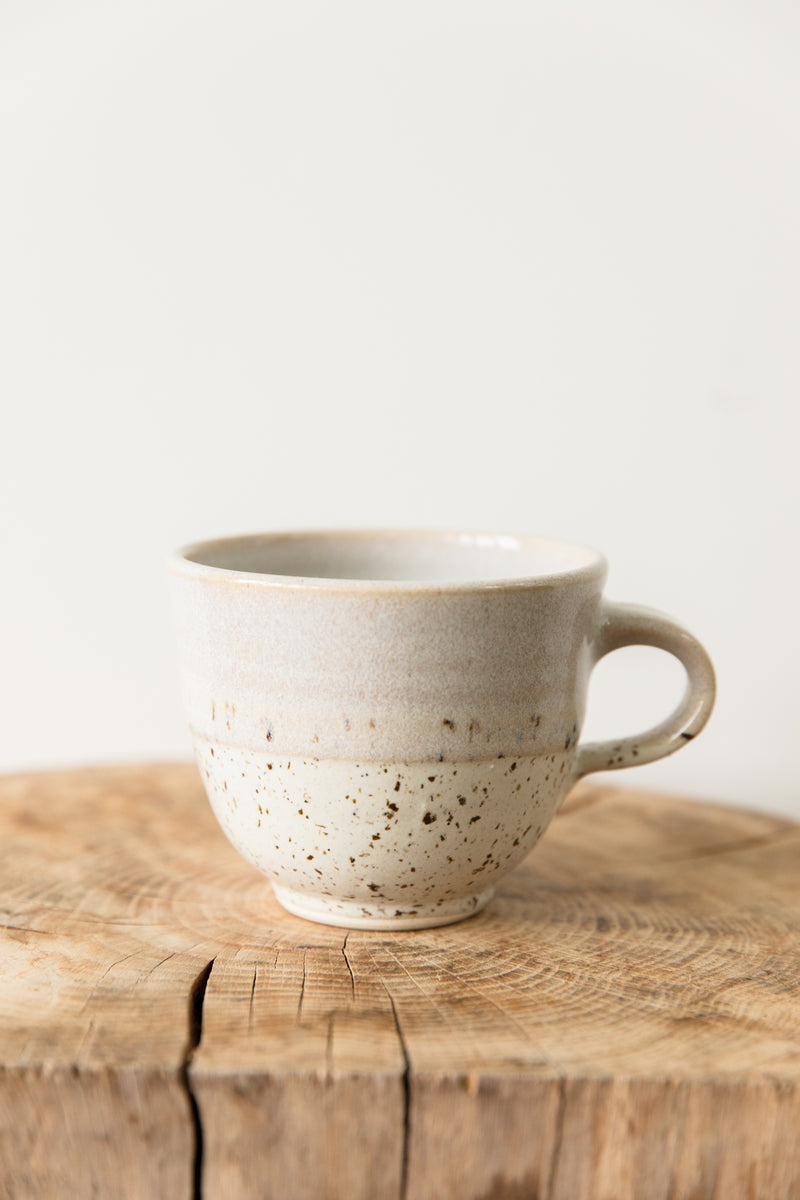 Hand Made Ceramic Cream & White Mug