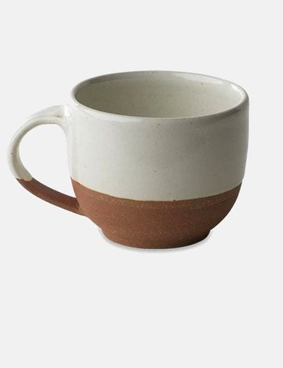 Hand Made White and Terracotta Mug