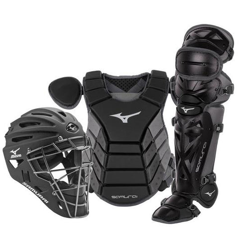 "Mizuno Youth 14"" Baseball Boxed Catcher's Gear Set (Black/Grey)"