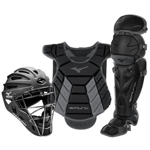 "Mizuno Samurai Womens Boxed Catchers Gear Set (14-15"") Black/Grey"
