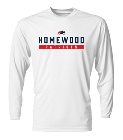 Homewood Patriots Adult Performance Long Sleeve Shirt