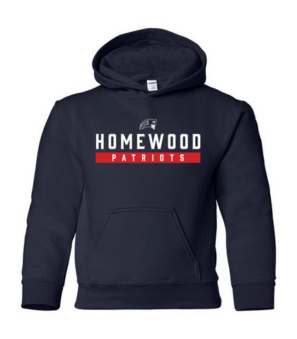 Homewood Patriots Youth Hooded Sweatshirt
