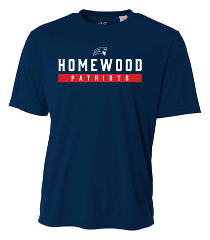 Homewood Patriots Adult Performance Short Sleeve Shirt