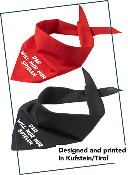 "Dog bandana ""play"""