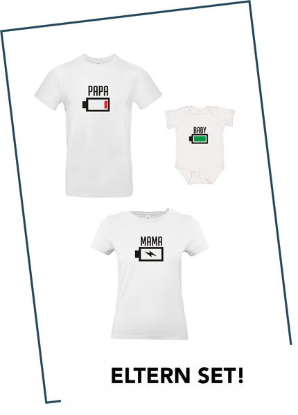 Partner T-Shirts + BABY BODY IM SET WEIß