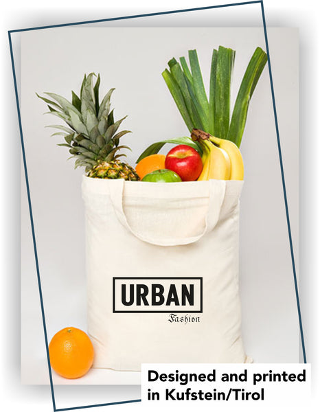 "Cotton bag; short handles ""Urban Fashion"""