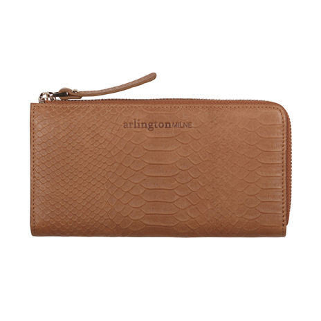 Arlington Milne Small Wallet Vintage Tan Snake