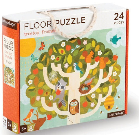 Petite Collage a Floor Puzzle Tree Top