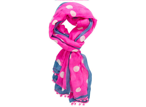 White Spot on Pink Scarf