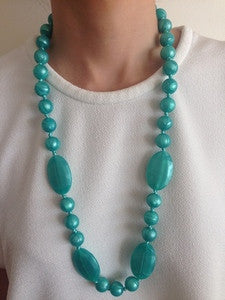 Bambino Bling Lucy Necklace Teething Beads Turquoise Shimmer