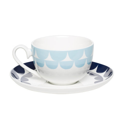 Harley Teacup & Saucer Blue/Navy