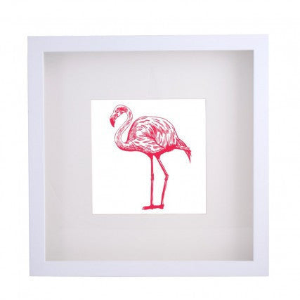 Framed Artwork - Flamingo