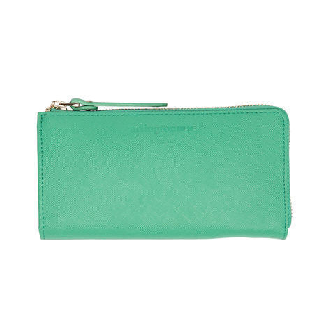Arlington Milne Small Wallet Mint Saffiano