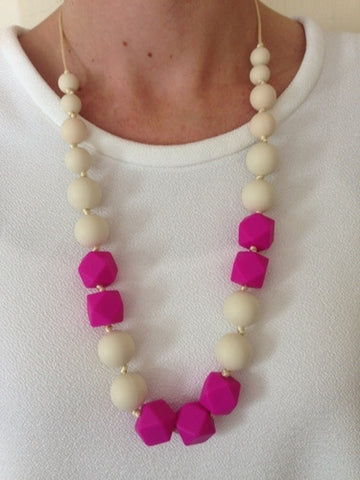 Bambino Bling Tilly Necklace Hot Pink