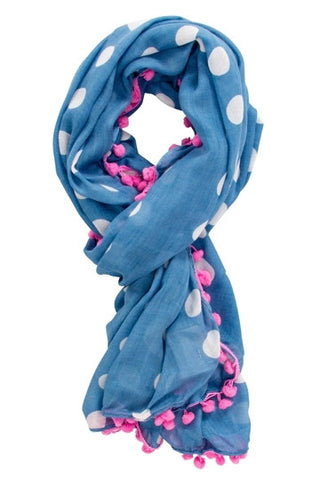 White Spot on Chambray Scarf