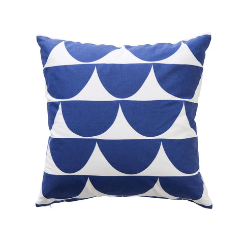 Scallop Cushion in Blue