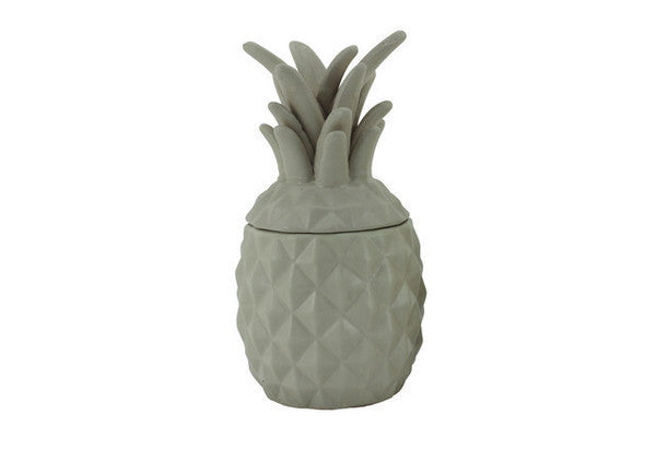 Ceramic Pineapple Jar - Large Latte
