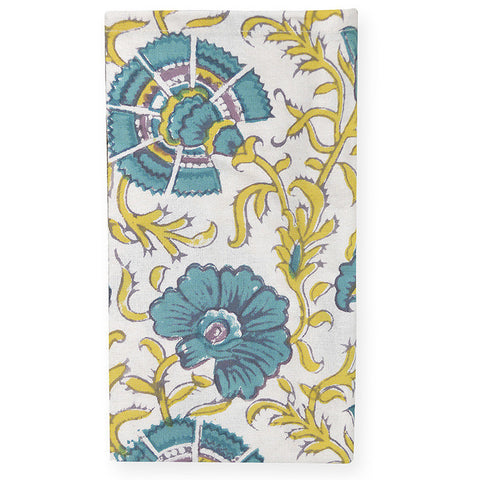 Sagar Yellow/Aqua Napkin Set of 4