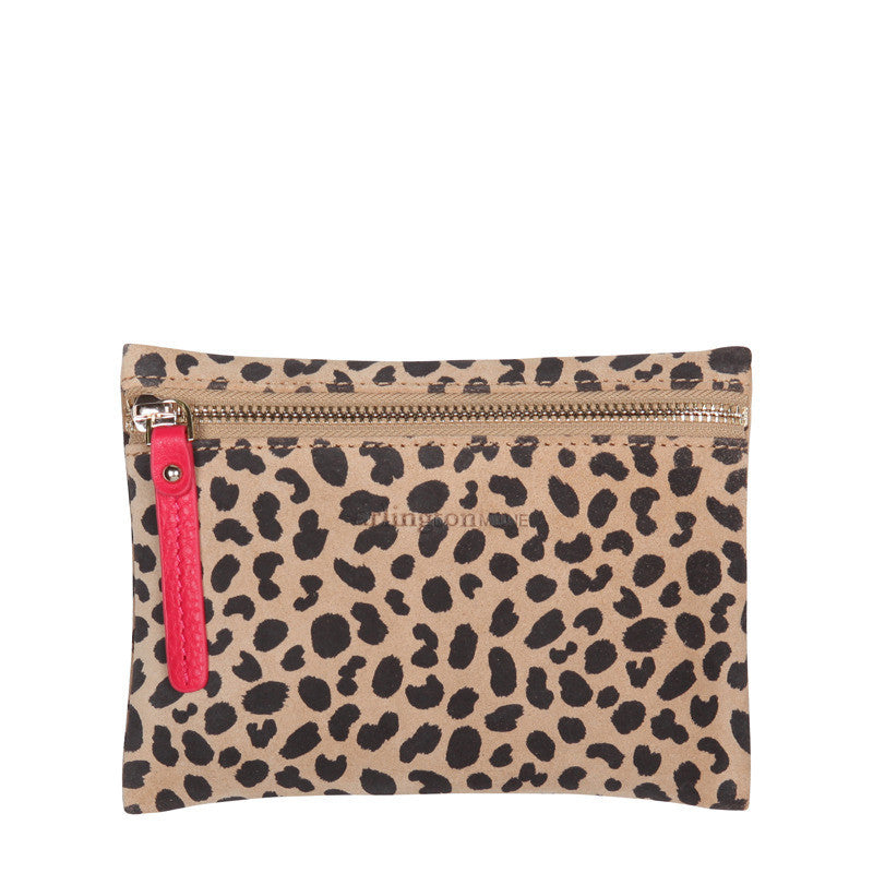 Zip Coin Purse Spot Suede