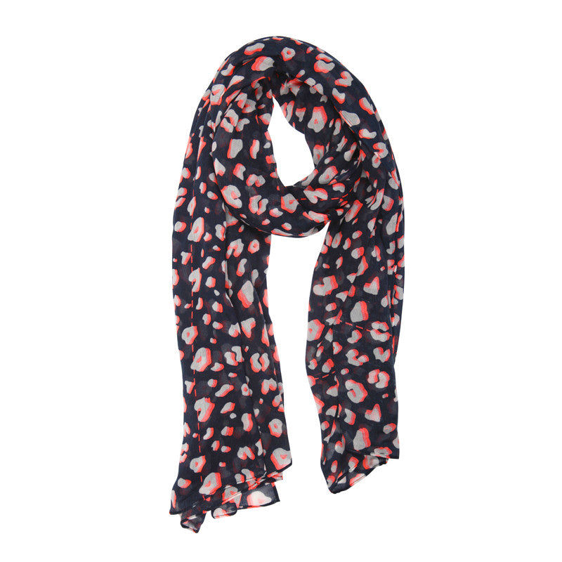 Animal Print Navy Scarf