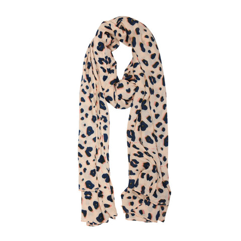 Animal Print Blush Scarf