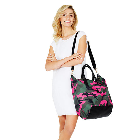 Mayfair Overnight Bag Pink Camouflage