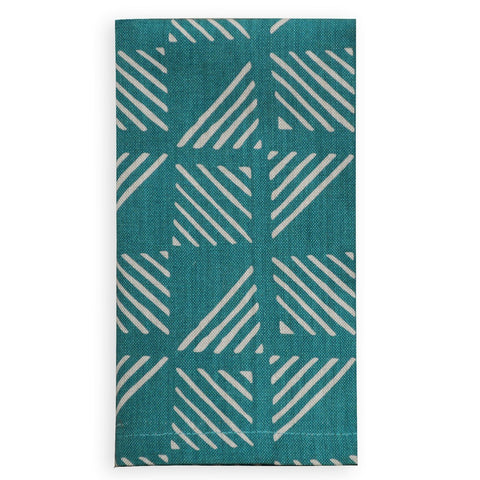 Hexagon Teal Napkin Set of 4