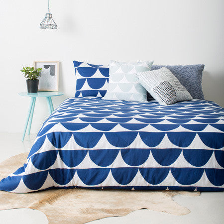 Scallop Quilt Cover Queen