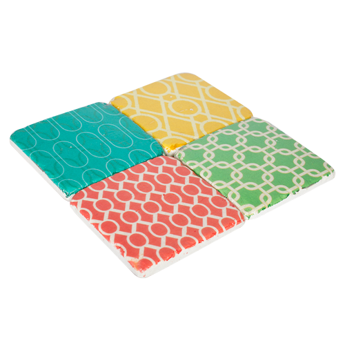 Mayon Square Coasters Set 4