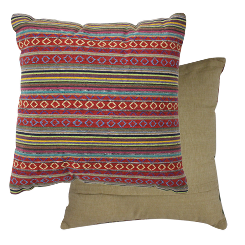 Embroidered Plum Cushion