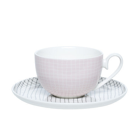 Clover Fine Check Tea Cup