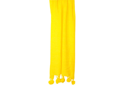 Annabel Trends Pom Pom Scarf Yellow