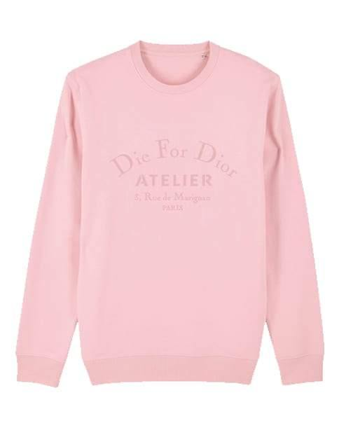 'Die for Dor' Kids Embroidered Sweater Out The Purse UK 9/11 baby blue