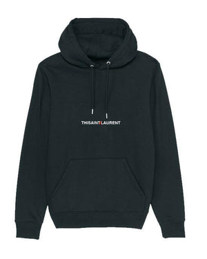 'This Ain't Laurent' Women's Embroidered Hoodie Hoodie Out The Purse UK