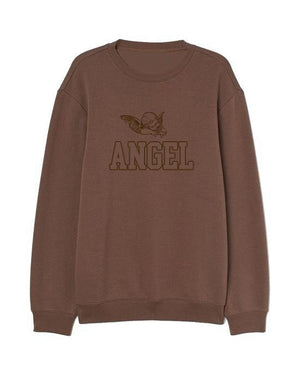 Load image into Gallery viewer, Angel Embroidered Women's Sweater Chocolate Sweater Out The Purse UK