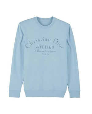 'Atelier' Kids Embroidered Sweater Out The Purse UK 9/11 baby blue