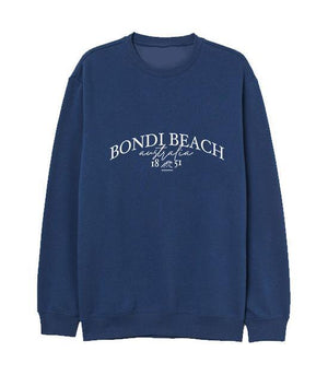 Load image into Gallery viewer, Bondi Beach Embroidered Sweatshirt Navy Sweater Out The Purse UK