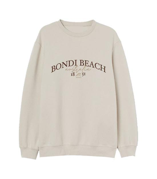Bondi Beach Embroidered Sweatshirt Sweater Out The Purse UK
