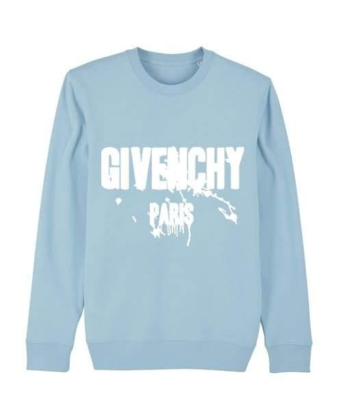 'Giv Paint Splat' Kids Sweater Out The Purse UK 9/11 baby blue