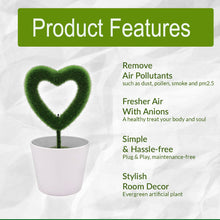 Load image into Gallery viewer, USB Powered Portable Green Plant Negative Ion Desktop Air Purifier_9