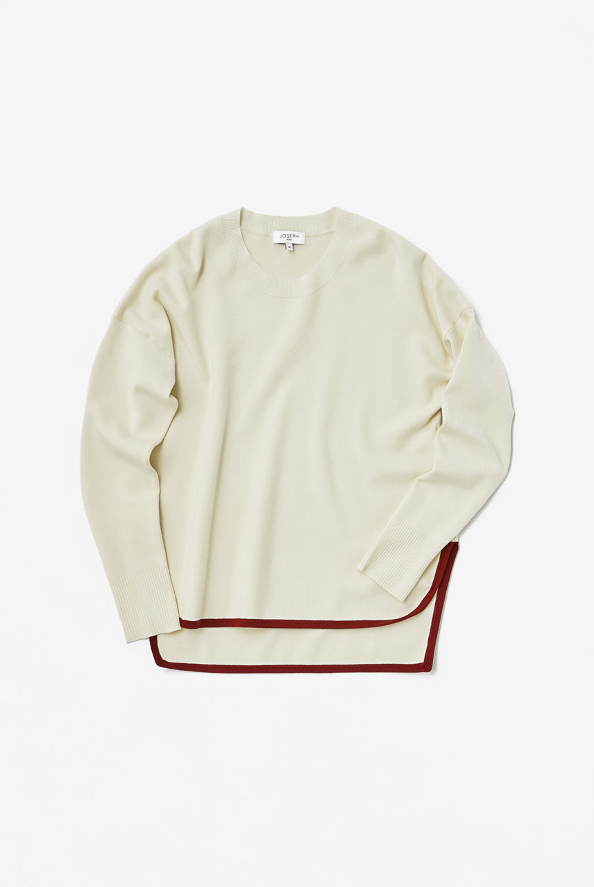 Round Neck Smooth Puff Knit